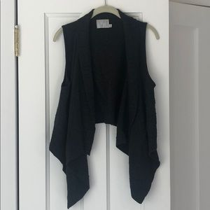 Dark grey Micheal Stars sweater vest, low in back